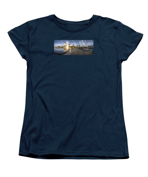 Cleveland Panorama Women's T-Shirt (Standard Cut) by James Dean