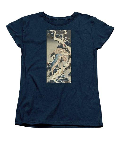 Cranes On Pine Women's T-Shirt (Standard Cut) by Hokusai