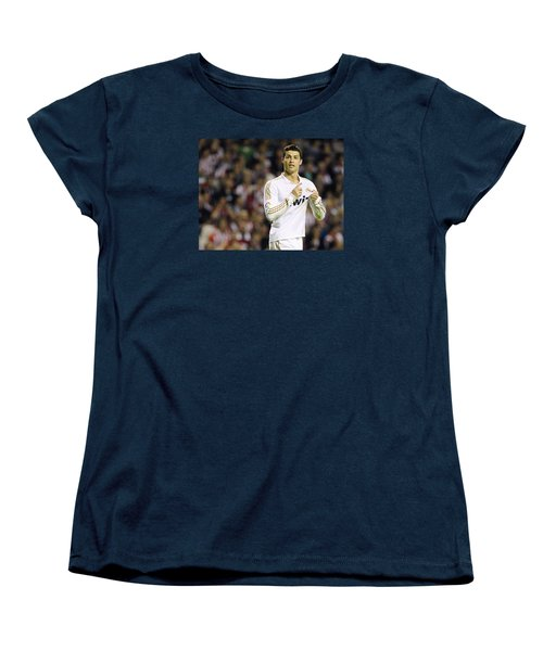 Cristiano Ronaldo 4 Women's T-Shirt (Standard Cut) by Rafa Rivas