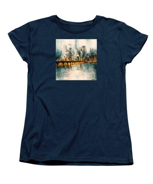 Dallas Skyline 217 3 Women's T-Shirt (Standard Cut) by Mawra Tahreem