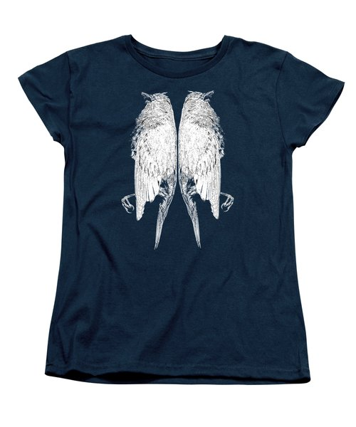 Dead Birds Tee White Women's T-Shirt (Standard Cut) by Edward Fielding
