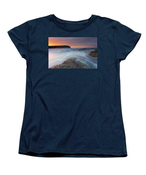 Divided Tides Women's T-Shirt (Standard Cut) by Mike  Dawson