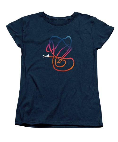 Drunk Drone Women's T-Shirt (Standard Cut) by Illustratorial Pulse
