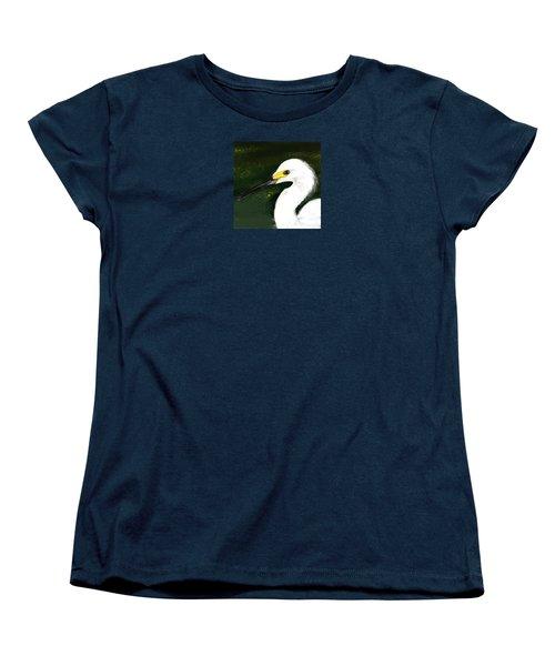 Egret Women's T-Shirt (Standard Cut) by Beth Klock