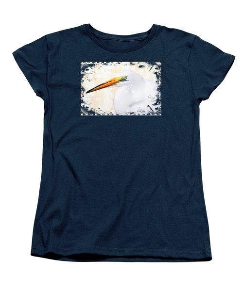 Egret Thoughts Signature Series Women's T-Shirt (Standard Cut) by Di Designs