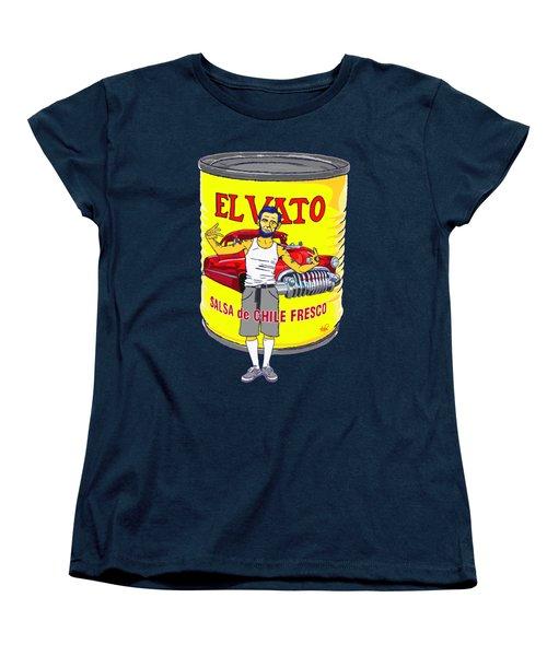 El Vato - Abe Women's T-Shirt (Standard Cut) by Armando Padilla