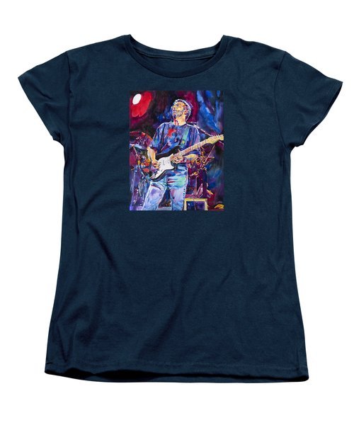 Eric Clapton And Blackie Women's T-Shirt (Standard Cut) by David Lloyd Glover