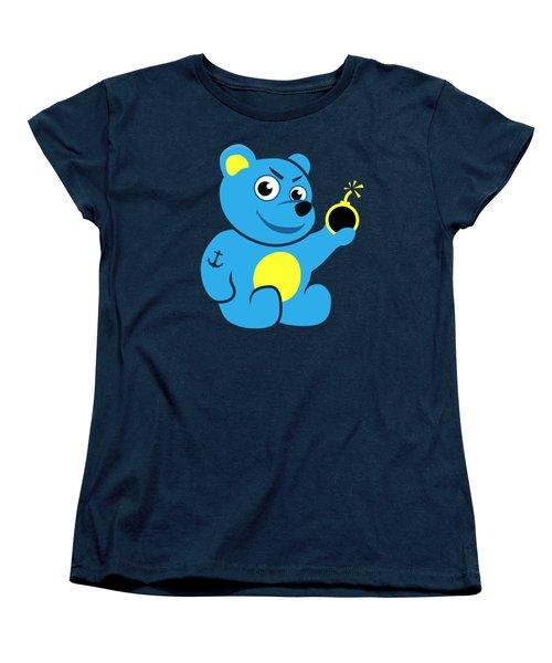Evil Tattooed Teddy Bear Women's T-Shirt (Standard Cut) by Boriana Giormova