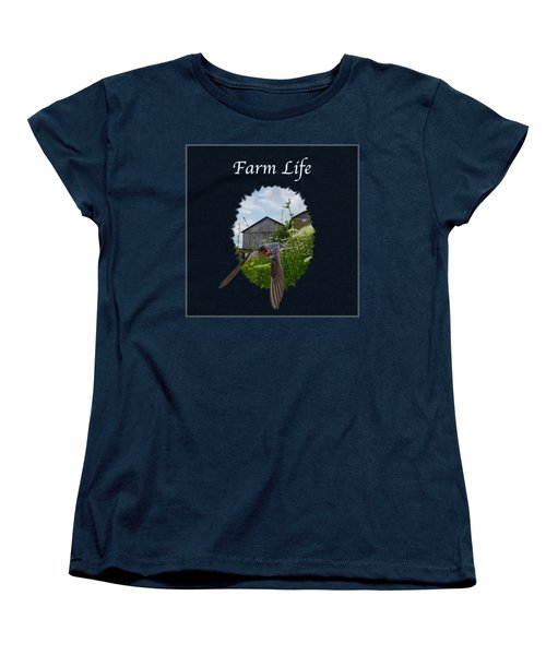 Farm Life Women's T-Shirt (Standard Cut) by Jan M Holden