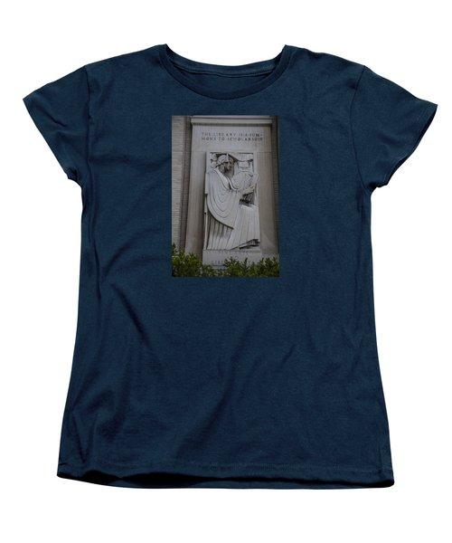 Fine Art Library Penn State  Women's T-Shirt (Standard Cut) by John McGraw