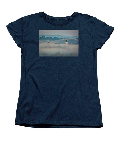 Fog At Old Main Women's T-Shirt (Standard Cut) by Damon Shaw