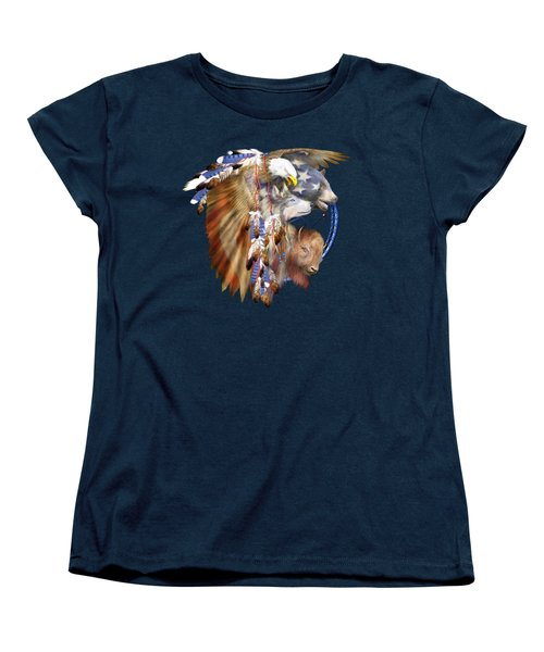 Freedom Lives Women's T-Shirt (Standard Cut) by Carol Cavalaris