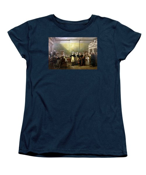 General Washington Resigning His Commission Women's T-Shirt (Standard Cut) by War Is Hell Store