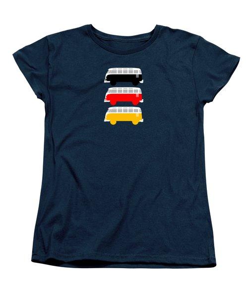 German Icon - Vw T1 Samba Women's T-Shirt (Standard Cut) by Mark Rogan