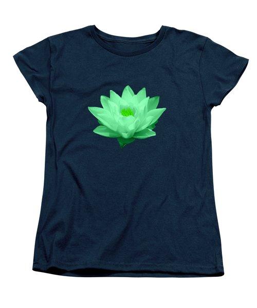 Green Lily Blossom Women's T-Shirt (Standard Cut) by Shane Bechler