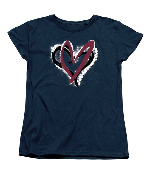 Hearts Graphic 6 Women's T-Shirt (Standard Cut) by Melissa Smith
