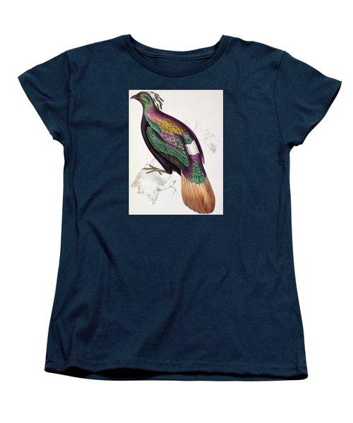 Himalayan Monal Pheasant Women's T-Shirt (Standard Cut) by John Gould