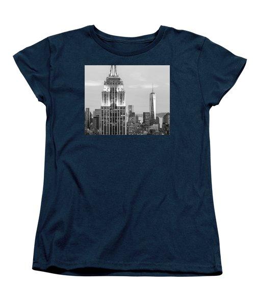 Iconic Skyscrapers Women's T-Shirt (Standard Cut) by Az Jackson