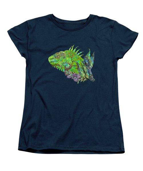 Iguana Cool Women's T-Shirt (Standard Cut) by Carol Cavalaris