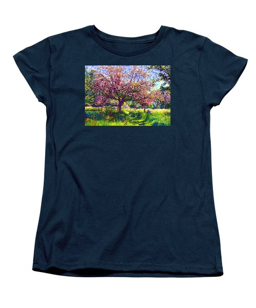 In Love With Spring, Blossom Trees Women's T-Shirt (Standard Cut) by Jane Small