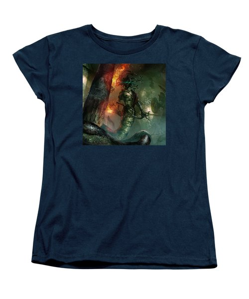 In The Lair Of The Gorgon Women's T-Shirt (Standard Cut) by Ryan Barger