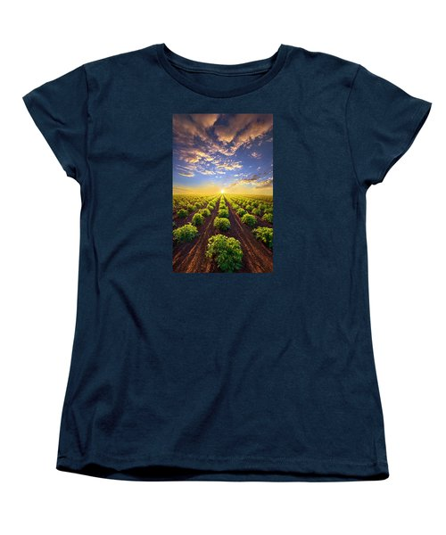 Into The Future Women's T-Shirt (Standard Cut) by Phil Koch