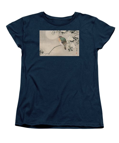 Japanese Silk Painting Of A Wood Pigeon Women's T-Shirt (Standard Cut) by Japanese School