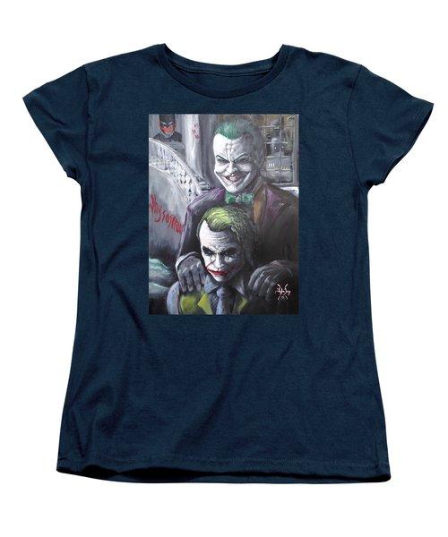 Jokery In Wayne Manor Women's T-Shirt (Standard Cut) by Tyler Haddox