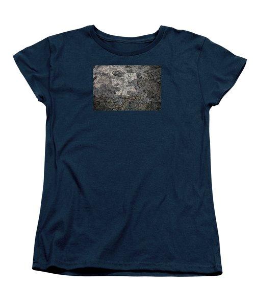Women's T-Shirt (Standard Cut) featuring the photograph Lava Flow by M G Whittingham