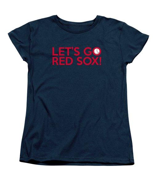 Let's Go Red Sox Women's T-Shirt (Standard Cut) by Florian Rodarte