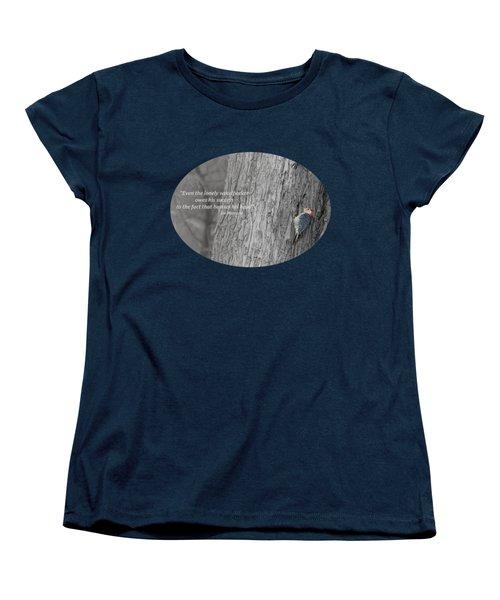 Lonely Woodpecker Women's T-Shirt (Standard Cut) by Jan M Holden