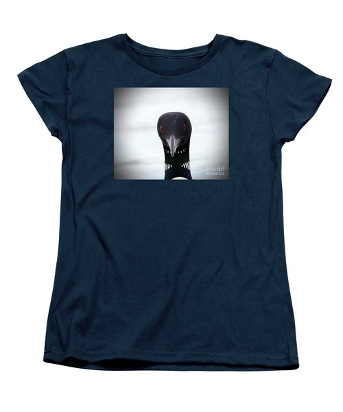 Loon Stare Women's T-Shirt (Standard Cut) by Peter Gray