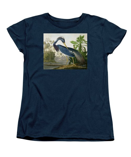 Louisiana Heron Women's T-Shirt (Standard Cut) by John James Audubon