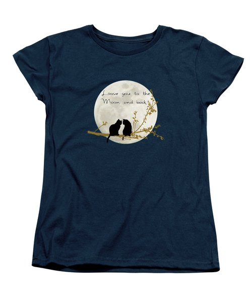 Love You To The Moon And Back Women's T-Shirt (Standard Cut) by Linda Lees