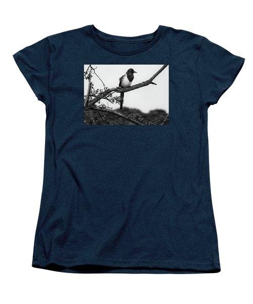 Magpie  Women's T-Shirt (Standard Cut) by Philip Openshaw