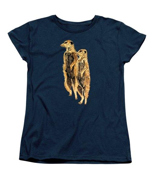 Meerkats Women's T-Shirt (Standard Cut) by Teresa  Peterson