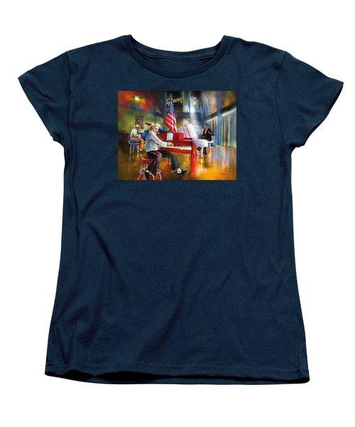 Memphis Nights 04 Women's T-Shirt (Standard Cut) by Miki De Goodaboom