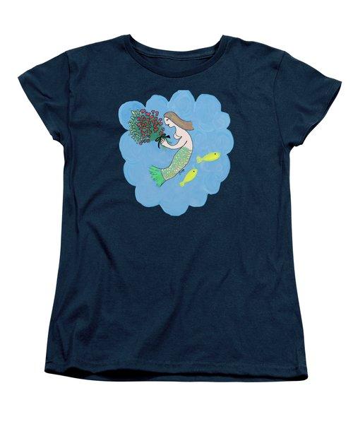 Mermaid Women's T-Shirt (Standard Cut) by Priscilla Wolfe