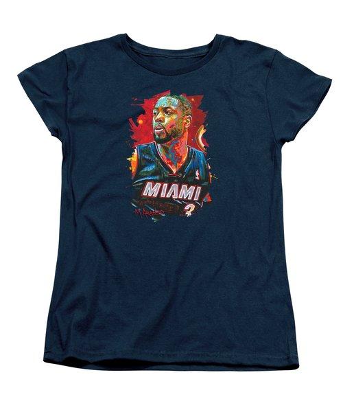 Miami Heat Legend Women's T-Shirt (Standard Cut) by Maria Arango