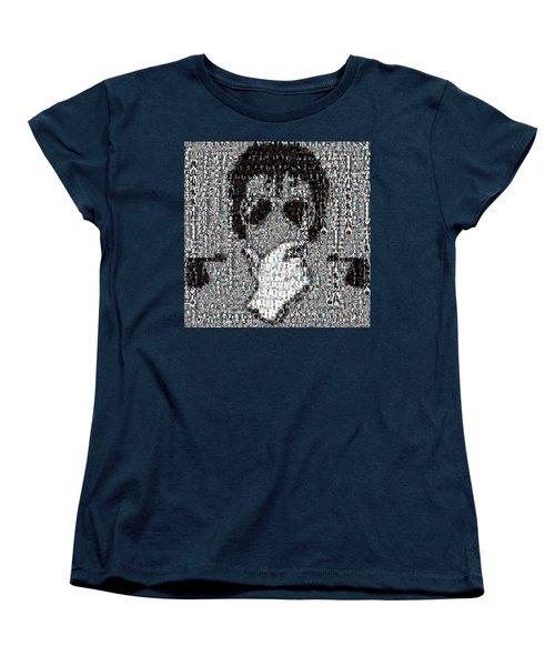 Michael Jackson Glove Montage Women's T-Shirt (Standard Cut) by Paul Van Scott