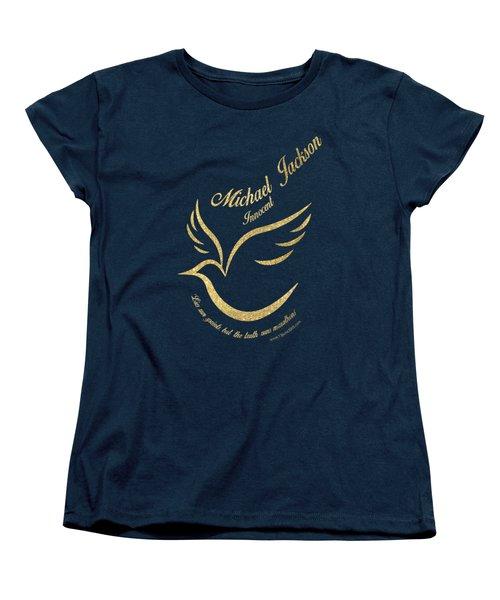 Michael Jackson Golden Dove Women's T-Shirt (Standard Cut) by D Francis