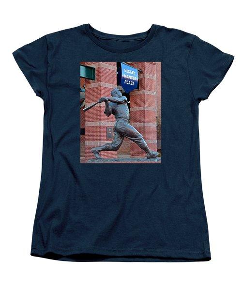 Mickey Mantle Women's T-Shirt (Standard Cut) by Frozen in Time Fine Art Photography