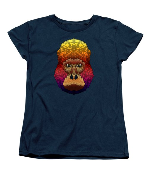 Mountain Gorilla Women's T-Shirt (Standard Cut) by Dusty Conley
