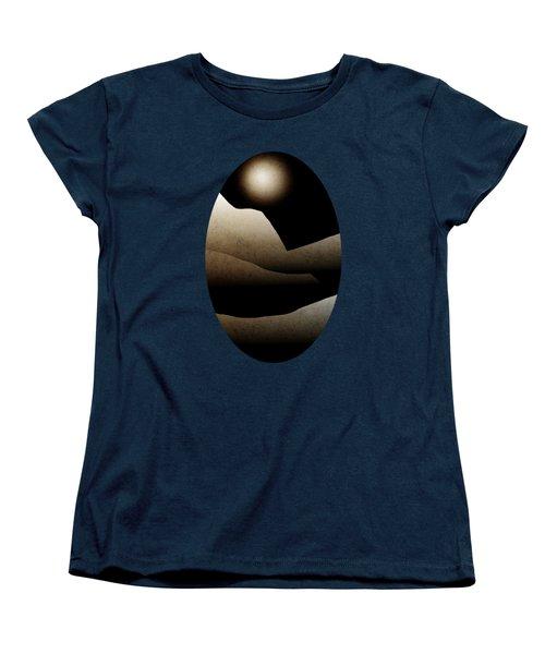 Mountain Moonlight Landscape Art Women's T-Shirt (Standard Cut) by Christina Rollo