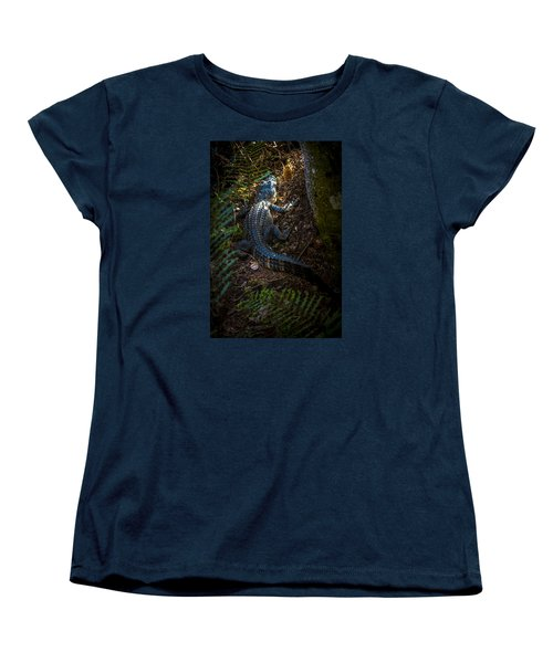 Mr Alley Gator Women's T-Shirt (Standard Cut) by Marvin Spates