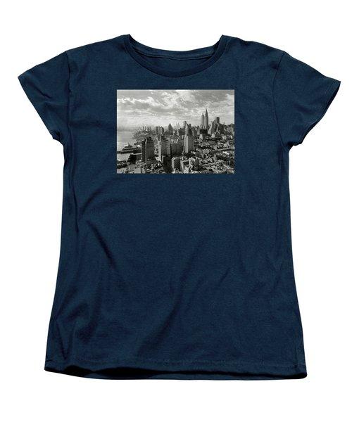 New Your City Skyline Women's T-Shirt (Standard Cut) by Jon Neidert