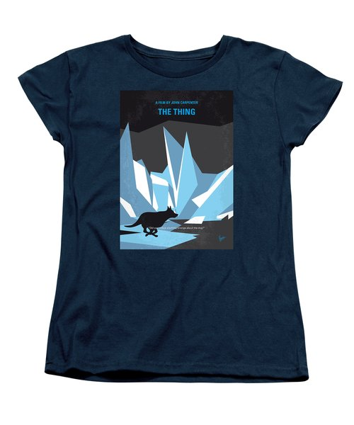 No466 My The Thing Minimal Movie Poster Women's T-Shirt (Standard Cut) by Chungkong Art