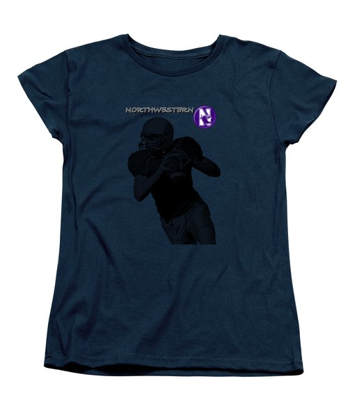 Northwestern Football Women's T-Shirt (Standard Cut) by David Dehner