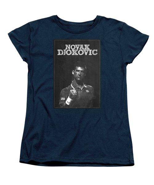 Novak Djokovic Women's T-Shirt (Standard Cut) by Semih Yurdabak