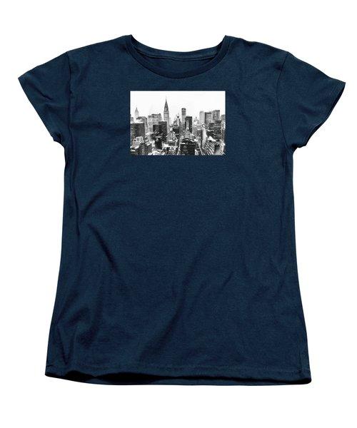 Nyc Snow Women's T-Shirt (Standard Cut) by Vivienne Gucwa